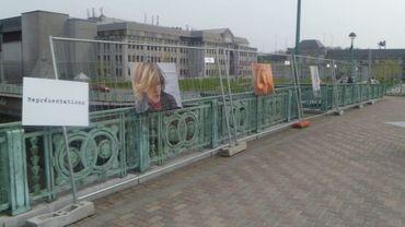 Les photos sont exposées sur le Pont Roi Baudouin