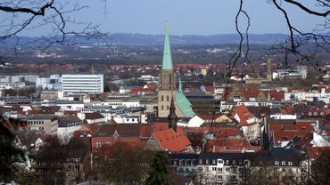 Une vue de la ville de Bielefeld (non truquée a priori).