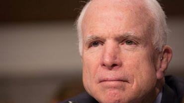 Le sénateur américain John McCain, le 14 mars 2017 à Washington