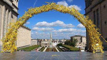 L'arche est visible au Mont des Arts jusqu'au 20 août.