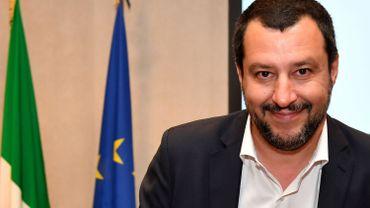 Matteo Salvini, titulaire du double portefeuille de vice-Premier ministre et ministre de l'Intérieur depuis un mois.