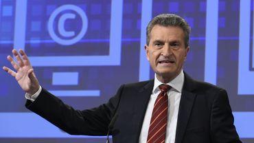 Le commissaire européen Gunther Oettinger
