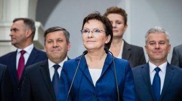 La Première ministre polonaise Ewa Kopacz lors d'une conférence de presse à Varsovie le 19 septembre 2014
