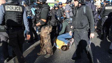 Une interpellation lors de la manifestation des gilets jaunes à Nice