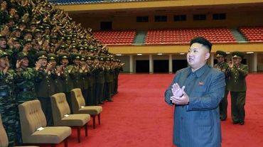 Le leader nord-coréen Kim Jong-Un, le 31 août 2014, lors d'une visite à une unité de l'armée nord-coréenne