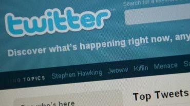 Détail de la page d'accueil du réseau social Twitter