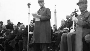 Philippe Pétain prononce un discours en 1938