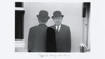 "Duane Michals, ""Magritte Coming and Going"", 1965"
