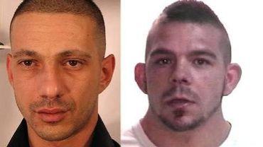 David Manella (à gauche) et Jason Bechet (à droite), deux fugitifs considérés comme très dangereux