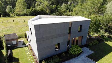 Maison à la forme très originale en ossature bois