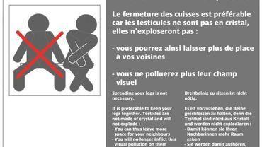 Campagne de la RATP contre le manspreading