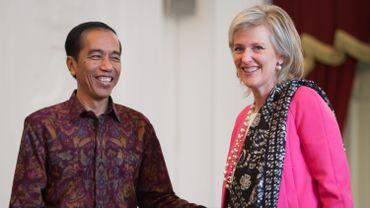La princesse Astrid a rencontré le président indonésien Joko Widodo