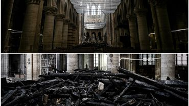 Difficile d'imaginer que des cérémonies se déroulaient dans les murs de Notre-Dame en voyant les images de son intérieur un mois après l'incendie