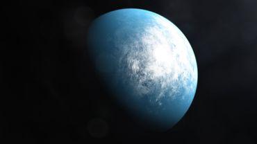 Illustration de la planète TOI 700 d située à environ cent années lumière.