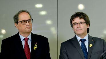 Catalogne: le nouveau président séparatiste Torra demande à rencontrer Rajoy
