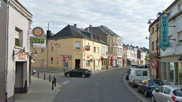 La rue de Rodange, à Aubange.
