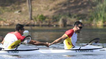Les Espagnols champions olympiques en K2 200 m