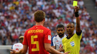 La Belgique a perdu la 1ère place du Groupe G pour une carte jaune
