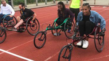 Nafissatou Thiam a testé les chaises de handi-athlétisme
