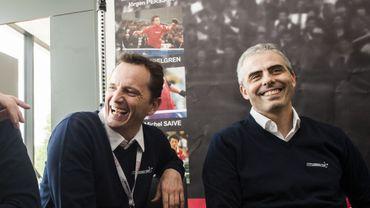 Jean-Michel Saive et Jean-Philippe Gatien