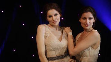 Le mannequin et actrice Laetitia Casta a inauguré lundi soir son double au musée Grévin, à Paris, avec comme plus proches voisins Brad Pitt et George Clooney
