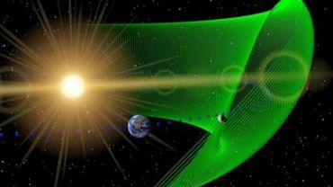 Image fournie par la Nasa montrant la trajectoire de l'astéroïde 2010 TK7