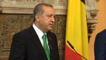 Le président turc Erdogan est en visite d'État en Belgique