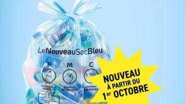 Le nouveau sac bleu débarque en province de Namur le 1er octobre, ainsi qu'à Héron en province de Liège.