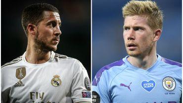 """C1: De Bruyne """"le meilleur de Premier League"""" face à Hazard """"impressionnant depuis son retour"""""""