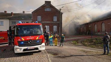 Incendie maîtrisé à l'ancienne gare de Rhisnes