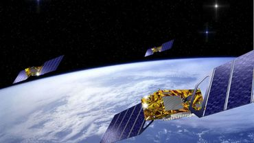 Images de synthèse représentant le satellite européen Galileo