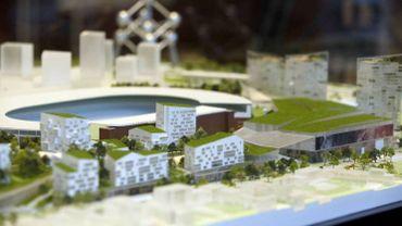 L'une des maquettes du projet Neo, sur le plateau du Heysel.