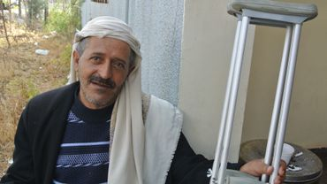 Un patient Yéménite de l'hôpital de médecin sans frontière de Amman.