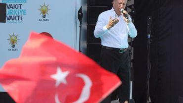 Le président turc Recep Tayyip Erdogan en campagne à Ankara, le 9 juin 2018