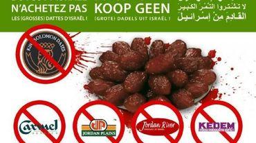 """""""Boycott Israël. N'achetez pas."""" Tel est le slogan inscrit sur les tracts distribués par de jeunes molenbeekois"""