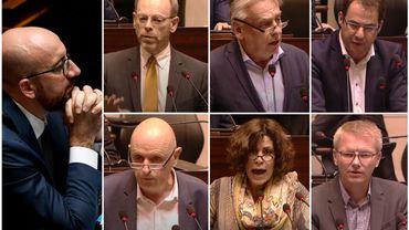 Les chefs de groupe s'expriment devant Charles Michel avant le vote