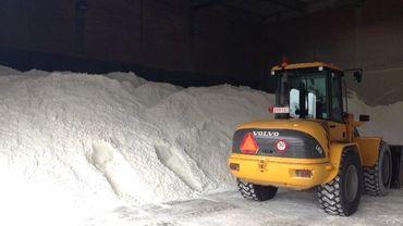 Une partie du stock de sel entreposé à Delta