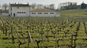 L'école élémentaire de Villeneuve-de-Blaye près de Bordeaux le 23 mars 2016, où élèves et professeurs souffrent de pathologies liées à l'utilisation de produits phytosanitaires dans les vignes alentour