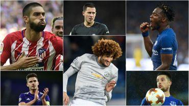 Yannick Carrasco, Eden Hazard, Michy Batshuayi, Leander Dendoncker, Marouane Fellaini, Kevin Mirallas