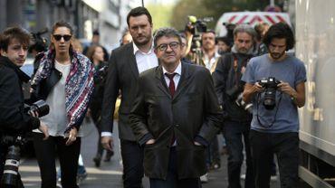 Le leader de la France Insoumise, le 18 octobre dernier, après son audition devant la cellule anti-corruption de la police de Nanterre.