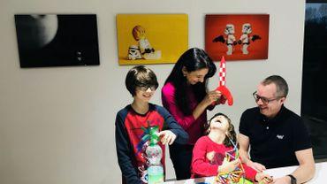 Paul, Silvia Foguenne et leurs deux enfants, habitants d'Arlon depuis près de 20 ans