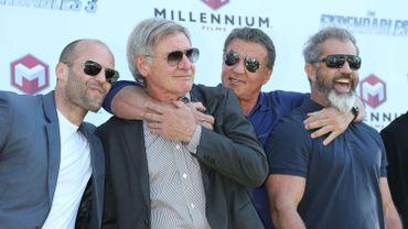 Jason Statham, Harrison Ford, Sylvester Stallone et Mel Gibson à Cannes en mai 2014