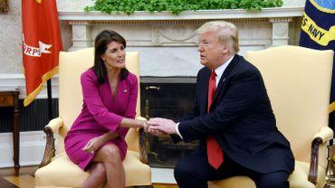 La démission de l'une des rares femmes de l'administration Nikki Haley, ambassadrice des États-Unis à l'ONU, ne va pas améliorer l'image du président Trump.
