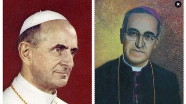 Paul VI et Mgr Romero (presque) Saints