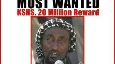 Avis de recherche de Mohamed Mohamud, cerveau présumé du massacre de Garissa, diffusé par le ministère de l'Intérieur kényan le 2 avril 2015. Il n'a pas été tué le 16 juillet 2015 par un raid aérien, comme indiqué dans un premier temps par le gouvernement kenyan