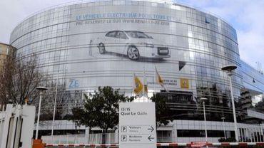 Vue du siège de Renault à Boulogne-Billancourt, le 11 janvier 2011