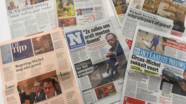 Comment la presse flamande titre-t-elle sur la crise politique?