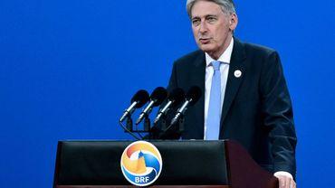 Le ministre britannique des Finances Philip Hammond, à Pékin le 14 mai 2017