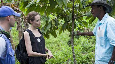 Angelina Jolie en visite en Équateur