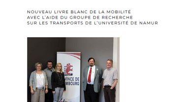 """""""Le livre blanc de la mobilité"""" de la Province de Luxembourg vient d'être actualisé."""